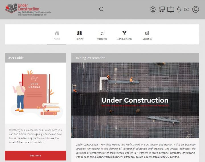 UNDER CONSTRUCTION e-learning platform takes shape