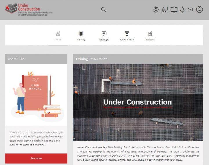 UNDER CONSTRUCTION e-learning platform takes shape